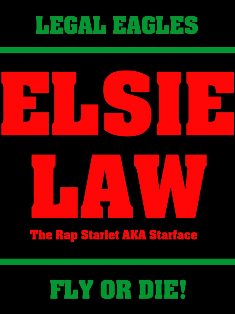 Red, Black & Green Elsie Law Logo