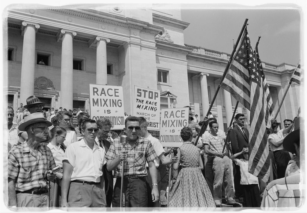Race Mixing Protest Little Rock